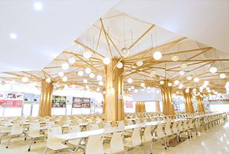 干净整洁的学校食堂环境